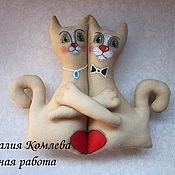 Свадебный салон ручной работы. Ярмарка Мастеров - ручная работа Коты-неразлучники. Handmade.