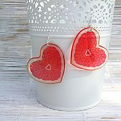 Украшения handmade. Livemaster - original item Transparent Earrings Juicy Orange Hearts. Handmade.