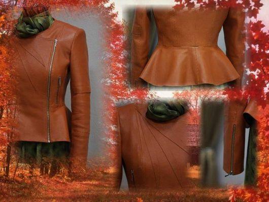 Верхняя одежда ручной работы. Ярмарка Мастеров - ручная работа. Купить Куртка из кожи. Handmade. Рыжий, куртка на молнии, кожа