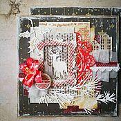 Открытки ручной работы. Ярмарка Мастеров - ручная работа Открытка Новогодняя ночь. Handmade.
