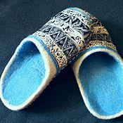 Обувь ручной работы handmade. Livemaster - original item Felted Slippers. Handmade.