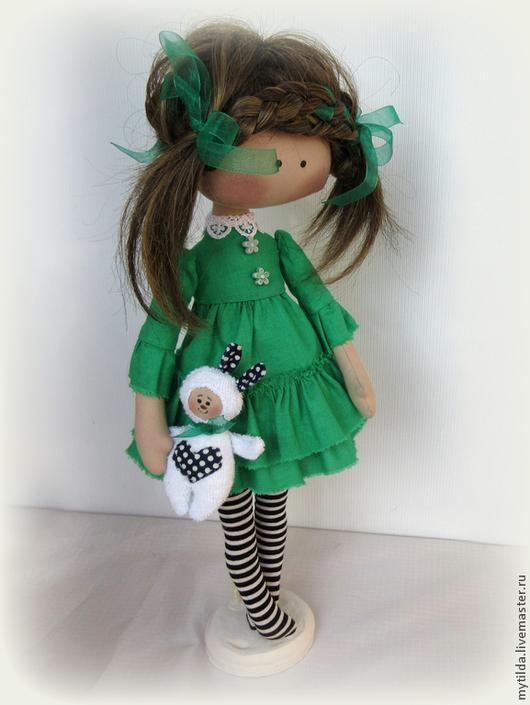 Куклы тыквоголовки ручной работы. Ярмарка Мастеров - ручная работа. Купить Green Girl. Handmade. Зеленый, кукла ручной работы