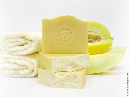"""Мыло ручной работы. Ярмарка Мастеров - ручная работа. Купить """"Медовая дынька"""" натуральное мыло с медом. Handmade. Мыло с нуля"""