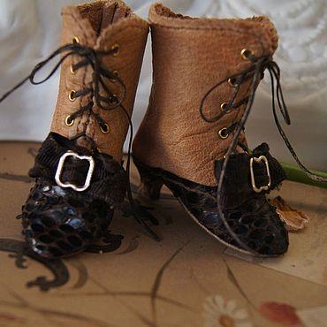 """Куклы и игрушки ручной работы. Ярмарка Мастеров - ручная работа Обувь для Антикварной и современной куклы """"Hight Heel"""". Handmade."""