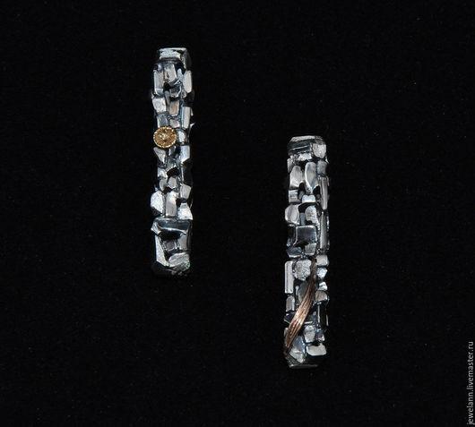 """Серьги ручной работы. Ярмарка Мастеров - ручная работа. Купить Серьги """"Цветущая мостовая"""". Handmade. Серебряные серьги, серебряные камни"""