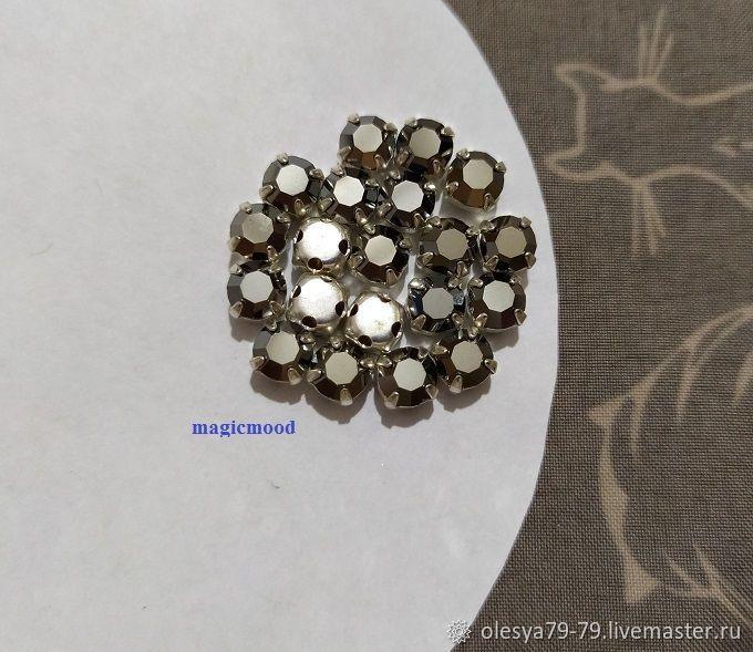 10pcs Rhinestones in DAC Hematite ss20 4,6-4,8 mm Czech prish crab, Rhinestones, Chelyabinsk,  Фото №1