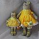 Игрушки животные, ручной работы. Кошка Киса в желтом платье. Светлана (Svetlana146132). Ярмарка Мастеров. Желтый, ароматизированная игрушка