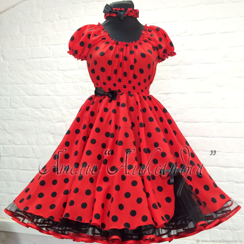 Одежда для девочек, ручной работы. Ярмарка Мастеров - ручная работа. Купить Платье 'Стиляги' на выпускной (красно-черное). Handmade. Стиляги