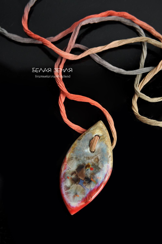 Porcelain button pendant, Pendants, Nizhneangarsk,  Фото №1