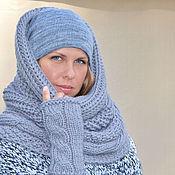 Аксессуары handmade. Livemaster - original item Scarf knitting Snood, tube scarf, cowl