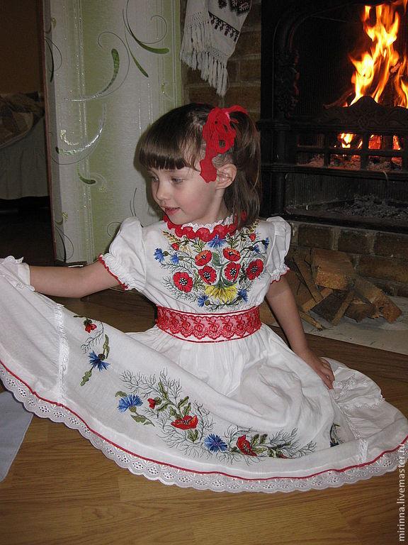 """Вышитое нарядное платье """"Маковка 3"""", Платья, Северодонецк, Фото №1"""