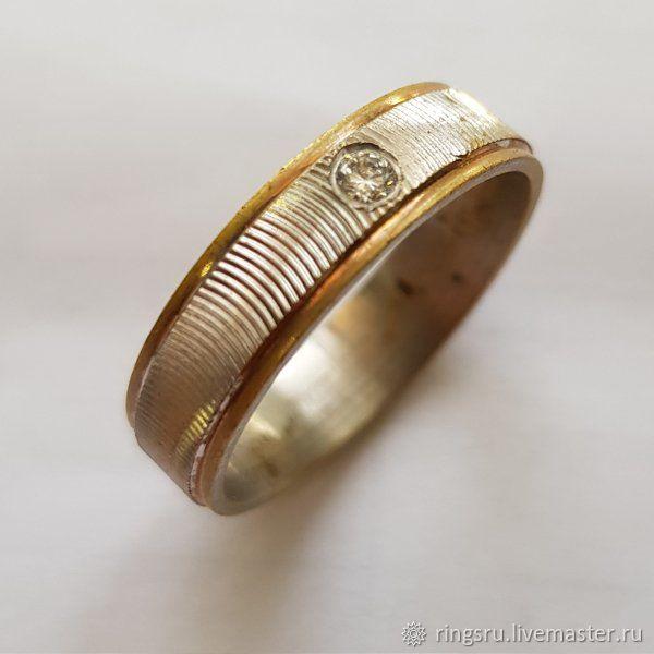 Свадебные украшения ручной работы. Ярмарка Мастеров - ручная работа. Купить Кольцо золотое с бриллиантами. Handmade. Золото, авторское кольцо