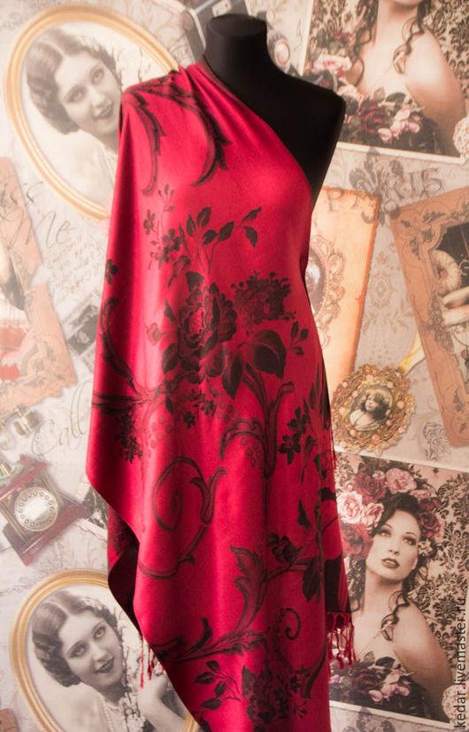 """Шали, палантины ручной работы. Ярмарка Мастеров - ручная работа. Купить Палантин шарф женский  Dimin """"Комплимент"""" красно коричневый. Handmade."""