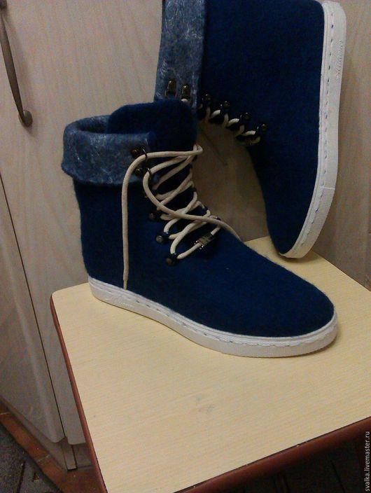 Обувь ручной работы. Ярмарка Мастеров - ручная работа. Купить Ботинки  валяные мужские. Handmade. Валяние из шерсти, обувь на заказ