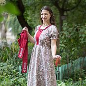 Одежда ручной работы. Ярмарка Мастеров - ручная работа Летнее платье из цветной ткани. Handmade.
