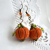 Украшения handmade. Livemaster - original item Earrings made of threads