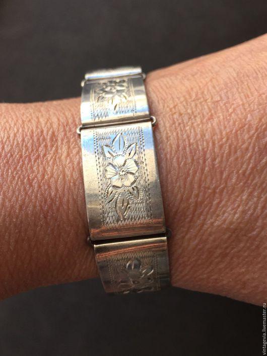 Vintage Via. Европейская коллекция. Старинный браслет из серебра 900 пр. 40-е г. Европа.