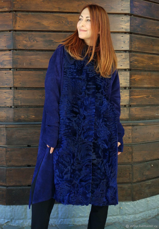 """Верхняя одежда ручной работы. Ярмарка Мастеров - ручная работа. Купить Меховое пальто """"Синяя птица 2"""". Handmade. Шуба"""