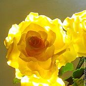 Цветы и флористика ручной работы. Ярмарка Мастеров - ручная работа Желтые розы. Handmade.