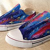 Обувь ручной работы. Ярмарка Мастеров - ручная работа Кеды Космос. Handmade.
