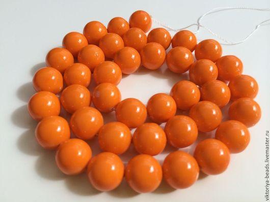 Для украшений ручной работы. Ярмарка Мастеров - ручная работа. Купить Жемчуг майорка оранжевый бусины (не перламутровый). Handmade.