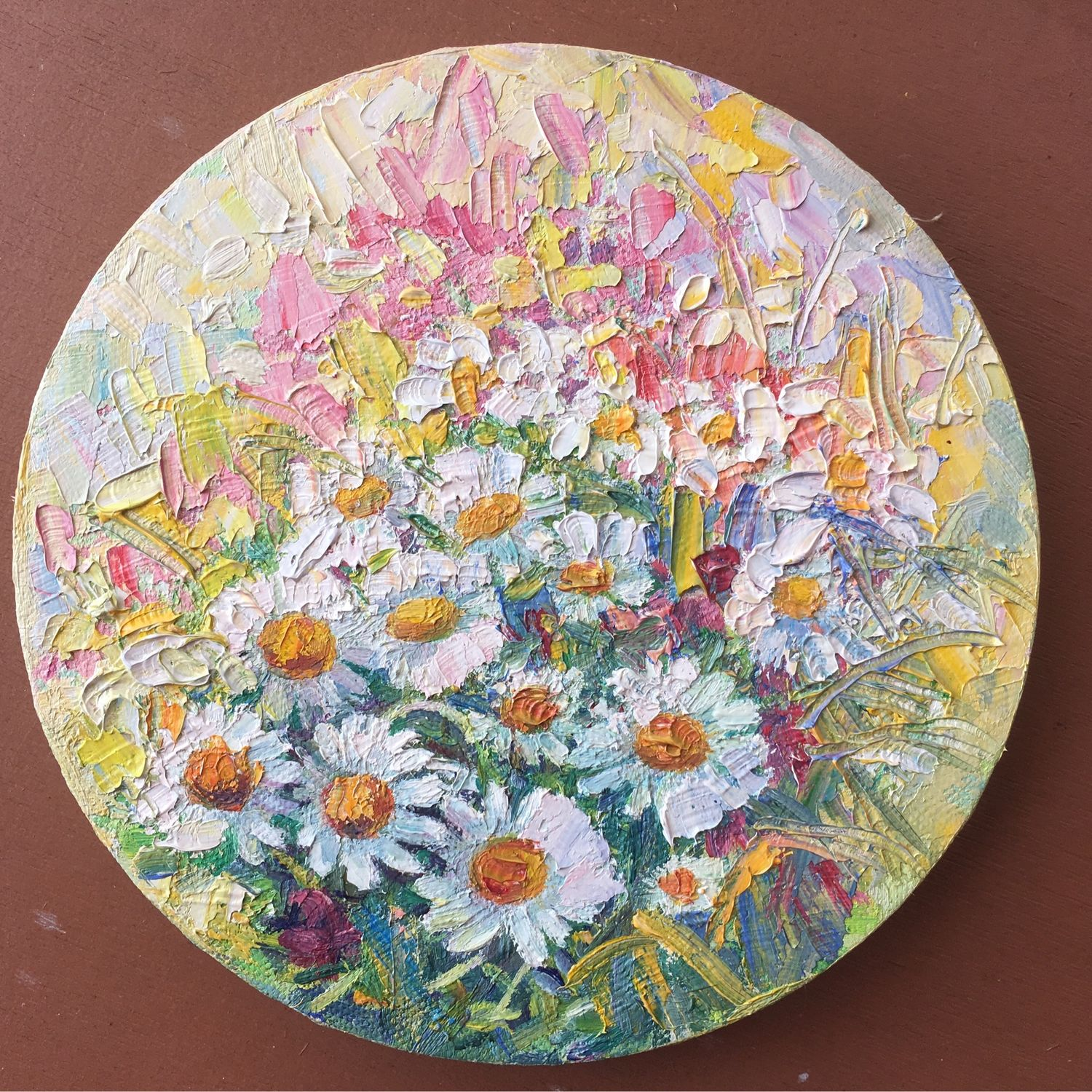 Oil painting. panel of Daisies. Oil on canvas, Pictures, Torzhok,  Фото №1