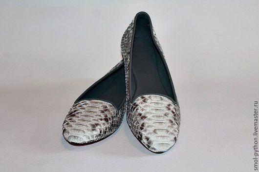 Обувь ручной работы. Ярмарка Мастеров - ручная работа. Купить Новинка! Лоферы из кожи питона (внутри нат.кожа). Handmade.