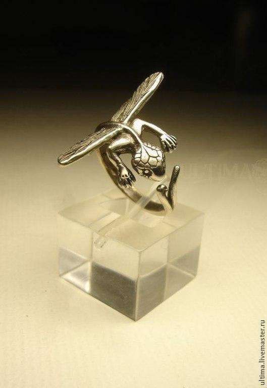 """Кольца ручной работы. Ярмарка Мастеров - ручная работа. Купить Кольцо """"Стрекоз"""". Handmade. Серебряный, драконы, дракоша"""