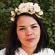 Свадебные украшения ручной работы. Ярмарка Мастеров - ручная работа. Купить Свадебный венок из роз. Handmade. Бежевый, цветок в волосы