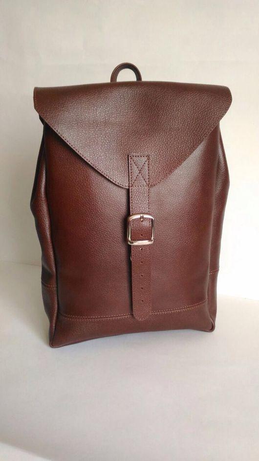 Рюкзаки ручной работы. Ярмарка Мастеров - ручная работа. Купить Рюкзак из натуральной кожи с клапаном. Handmade. Рюкзак, подарок