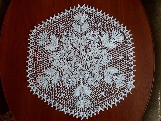 """Текстиль, ковры ручной работы. Ярмарка Мастеров - ручная работа. Купить Салфетка """" Морозный узор"""". Handmade. Белый"""
