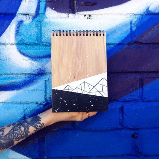 Блокноты ручной работы. Ярмарка Мастеров - ручная работа. Купить Скетч бук Вест блокнот для акварели из дерева. Handmade. Скетчбук