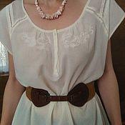 Одежда ручной работы. Ярмарка Мастеров - ручная работа блузка хлопковая. Handmade.