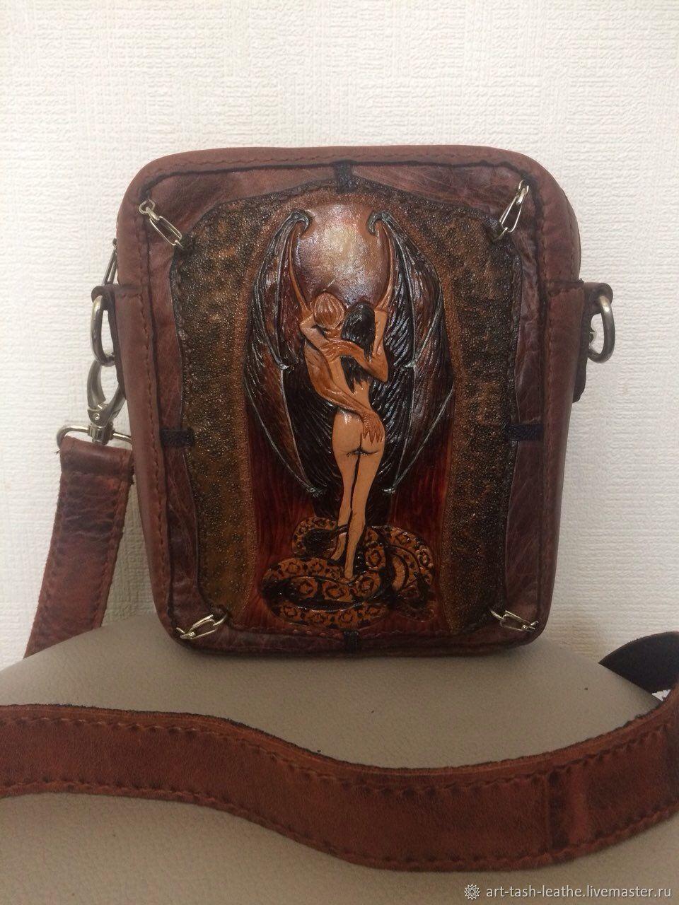 52ac1b888688 Мужские сумки ручной работы. Ярмарка Мастеров - ручная работа. Купить Кожаная  сумка ручной работы ...