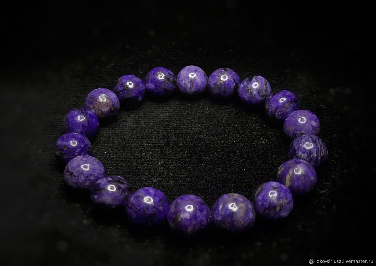 The bracelet is made of natural Japanese Sugilite, Bead bracelet, Moscow,  Фото №1