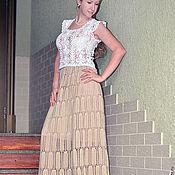 """Одежда ручной работы. Ярмарка Мастеров - ручная работа """"Лэхен"""" вязаная крючком кружевная летняя юбка из хлопка. Handmade."""