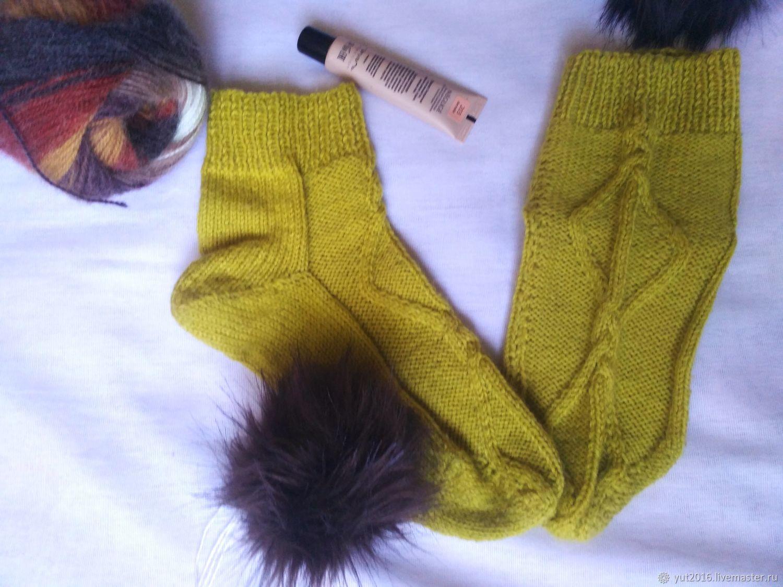 Wool socks - lime, Socks, Krasnodar,  Фото №1