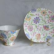 """Чайные пары ручной работы. Ярмарка Мастеров - ручная работа Чайная пара  """" Цветочный ковер"""". Handmade."""