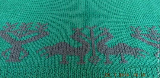 Пончо ручной работы. Ярмарка Мастеров - ручная работа. Купить джемпер пончо Этно вязаный авторский теплый. Handmade. Зеленый
