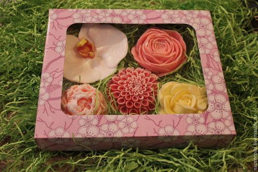 """Мыло ручной работы. Ярмарка Мастеров - ручная работа. Купить Набор мыла """"Цветы-4"""". Handmade. Мыльный подарок"""