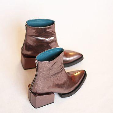 Обувь ручной работы. Ярмарка Мастеров - ручная работа Ботинки с квадратным каблуком.. Handmade.