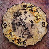 Для дома и интерьера ручной работы. Ярмарка Мастеров - ручная работа Часы настенные  Дамы и Розы (с двух сторон). Handmade.