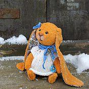 Куклы и игрушки ручной работы. Ярмарка Мастеров - ручная работа Зайка тедди Зина. Handmade.