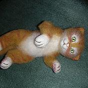 Felted Toy handmade. Livemaster - original item felted wool toy. Cat Ginger. Handmade.