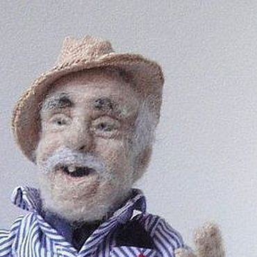 Куклы и игрушки ручной работы. Ярмарка Мастеров - ручная работа Интерьерная кукла из шерсти. Дедуля №2. Handmade.