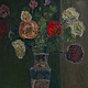 Натюрморт ручной работы. Ярмарка Мастеров - ручная работа. Купить розы и тёмный изумруд.... Handmade. Тёмно-зелёный, картина, масло