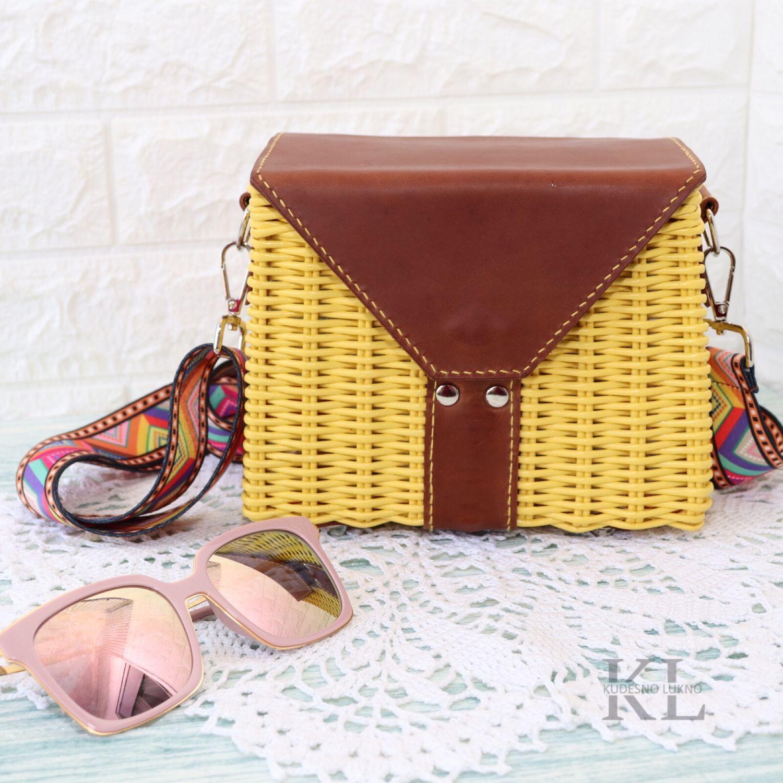 Плетеная сумка Sunny, Классическая сумка, Никольское,  Фото №1