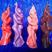 """Ритуальная свеча ручной работы. Ярмарка Мастеров - ручная работа Свеча """"Влюбленные/Любовь-ники"""" восковая. Handmade."""