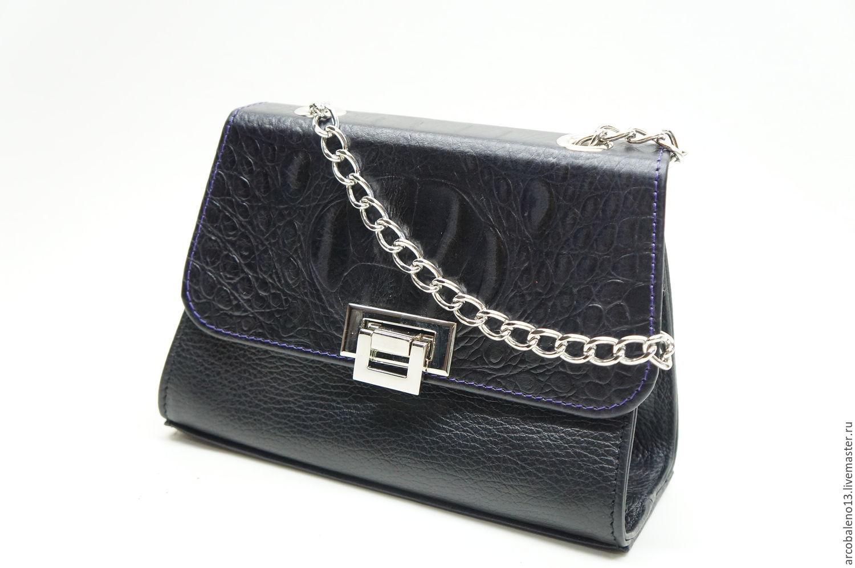 ArcobalenoMaster Женские сумки ручной работы. Заказать Маленькая сумка  через плечо.Кожаная сумка на цепочке. b7930fdf402