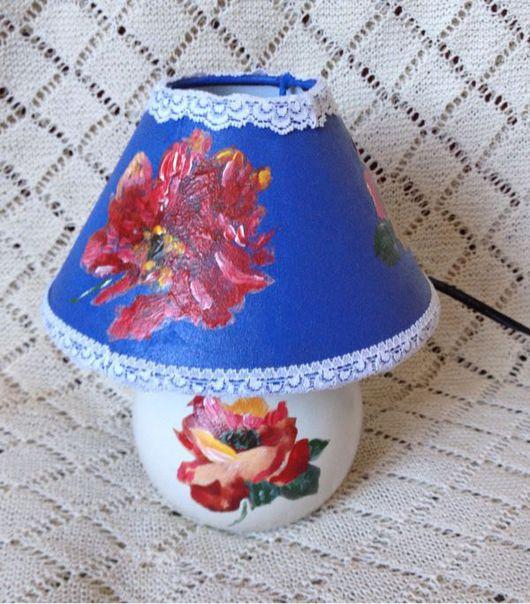"""Освещение ручной работы. Ярмарка Мастеров - ручная работа. Купить Лампа """" Летний сад"""". Handmade. Ночник, светильник"""
